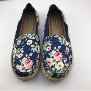 New Hush Puppies espadrille slip on casual shoe 8